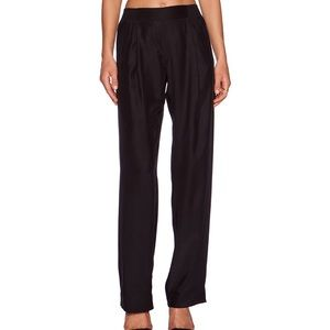 ATM Wide Leg Black Silk Pants Size Large